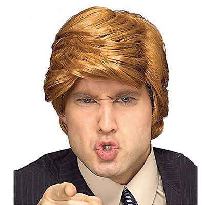 Donald Trump Wig Adult Costume Accessory Billionaire Hair Wig Candidate Fancy Hair Clips