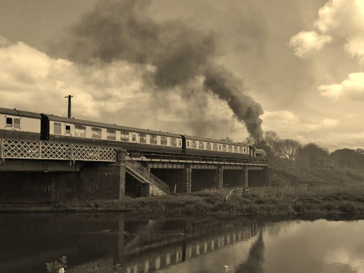 No. 22 crossing Wansford Bridge with the First train of the day © Angie Nurse