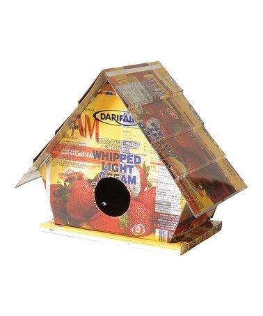 Recycled Tin Bird House #zulily #zulilyfinds
