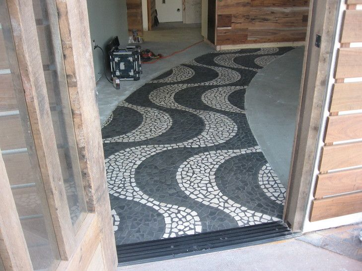 Love the pattern, but we should use black and white pebbles from lake Michigan beach.