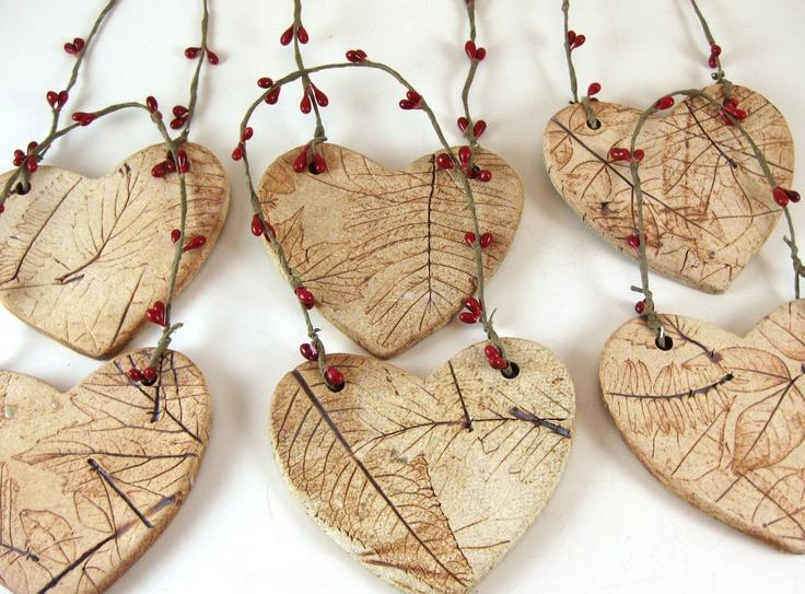 Christmas / Ceramic Ornament / Handmade Pottery Ornaments. $8.00, via Etsy.