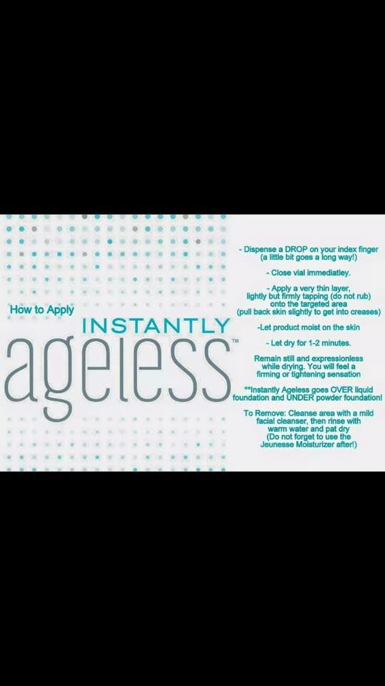 Instructions for using Instantly Ageless we have 24 years in networking - we know how to create a huge network and a great residual income Contact us! vivre121@gmail.com
