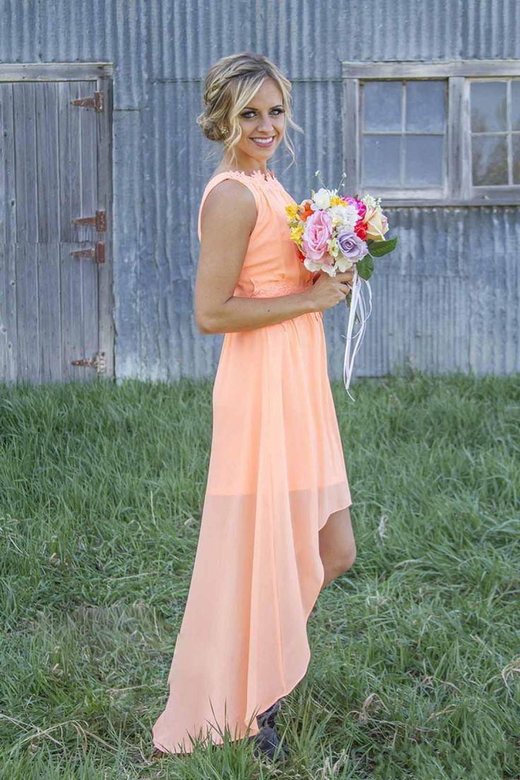 Best 25 bridesmaid dresses under 100 ideas on pinterest wedding 2016 mint orange country bridesmaid dresses under 100 knee length hi lo chiffon junior ombrellifo Choice Image