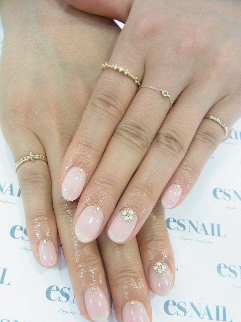Here's a cute bridal nail design, Amanda.