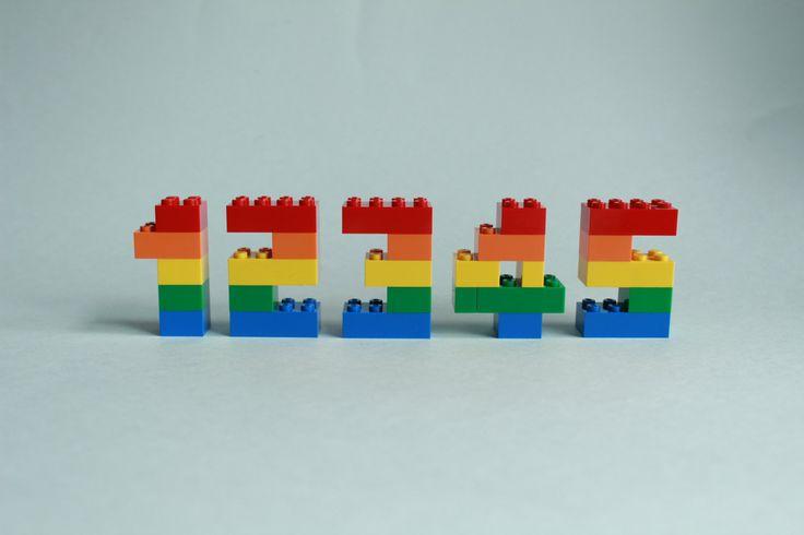 LEGO Numbers, Lego Cake Topper, Birthday Cake Decoration, Lego Numerals, Birthday Party, Lego Decor, Kids AGE, LEGO Birthday