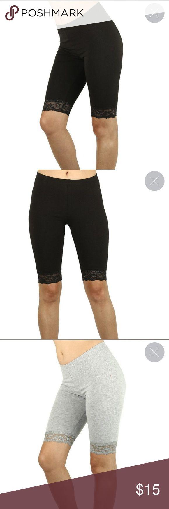 Lace biker shorts Made in the USA Medium Rise Comfort Waist Tight Fit Ultra Comf…   – Biker Shorts