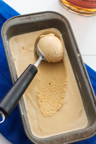 Bourbon Brown Sugar Ice Cream - The Girl in the Little Red Kitchen Ingredients ¾ dark brown sugar, packed ¾ cup whole milk 4 large egg yolks 1¼ cup heavy cream 1½ tablespoons bourbon pinch of kosher salt 1 teaspoon pure vanilla extract