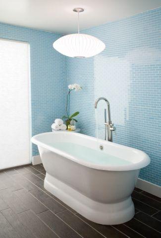 Glass tile-love the blue