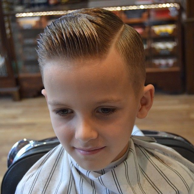 Slick Haircut With A Quiff Hairstyle Little Boys
