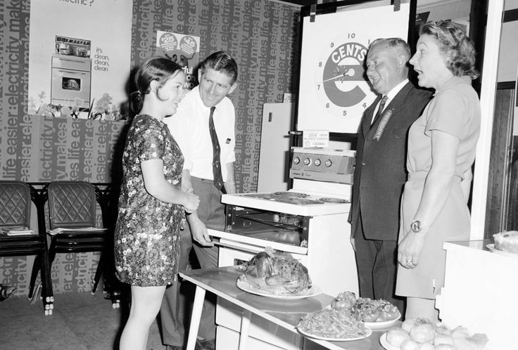 Day Six of my pre-launch pins, and a bit of nostalgia. This photo of a stand promoting a new stove was taken in 1970 at the Wangaratta show. It's featured in the book alongside Jess McMillan's recipe for streusel caramel slice.