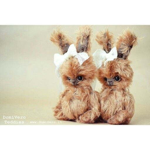DomiVero Teddies Available These little hares are symbols of good luck and good news. www.domivero.lt info@domivero.lt