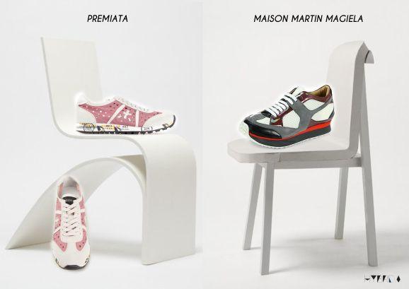 sneakers collage - Hybrida premiata maison martin magiela