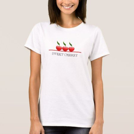 T-shirt with cherries - click/tap to personalize and buy