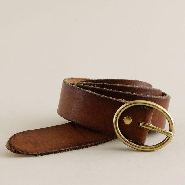 Oval buckle denim belt | J.Crew