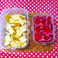 Slimming World: Jelly sweets: Add 2 sachets sugar free jelly with 2 sachets powdered gelatine to half pint boiling water & mix well. Pour 2/3 into flat dish put in fridge to set. Mix mullerlight yoghurt into last 1/3 of jelly and mix well. When first layer set add the yoghurt/jelly mix to top and put in fridge. 3 syns for the lot.
