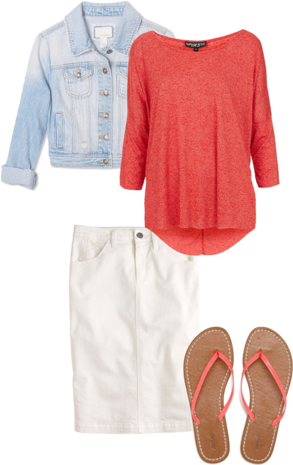 """""""Casual Coral"""" by sandy-simmons ❤ liked on Polyvore"""
