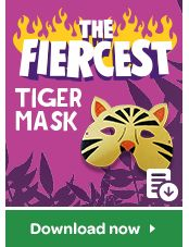 Feeling creative? Use this fun template to create your own Tiger Mask!