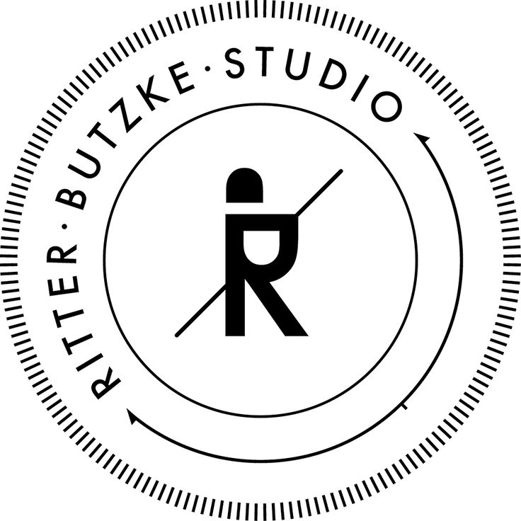 Ritter Butzke Studio Logo #logo #branding #identity #brand #mark #logotype #knight #shield #person