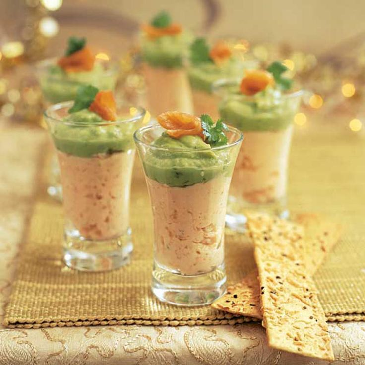 This smoked salmon mousse with guacamole is a great starter or canapé for a cocktail party.