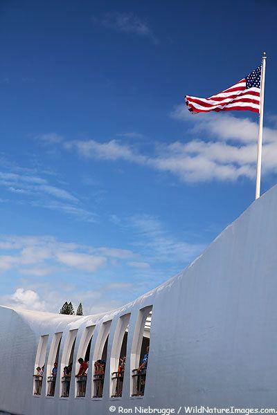 USS Arizona Memorial, Pearl Harbor, Honolulu, Hawaii.
