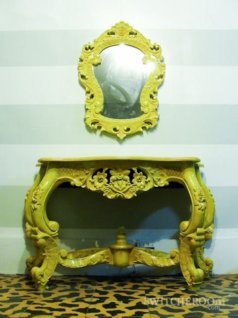 Yellow Foyer Table : Yellow entry table foyer diy before and