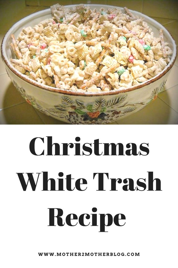 White Trash or Christmas Crunch is the perfect snack or gift idea for the holidays. Check out my recipe. It's easy and delicious.