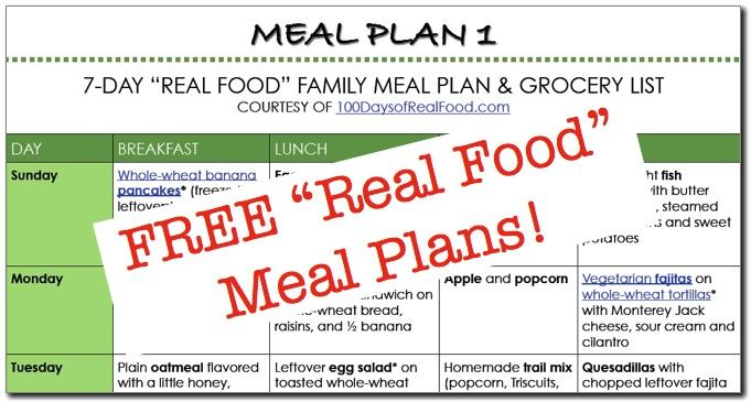 100 Days of Real Food: 1 Family, 2 Kids, 0 Processed Foods. Free meal plans for weeks using seasonal foods! (and grocery lists!)