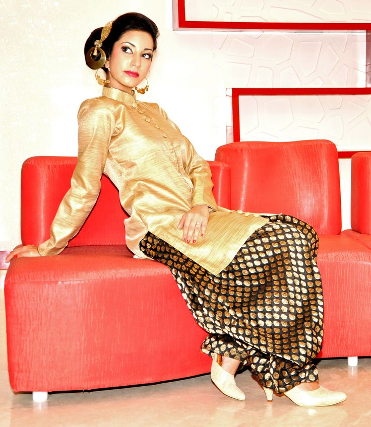 Silk Waistcoat paired with brocade patiala. Style Quarters by Neetu M