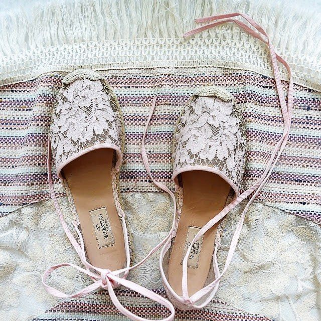 Champagne Lace Court Shoes