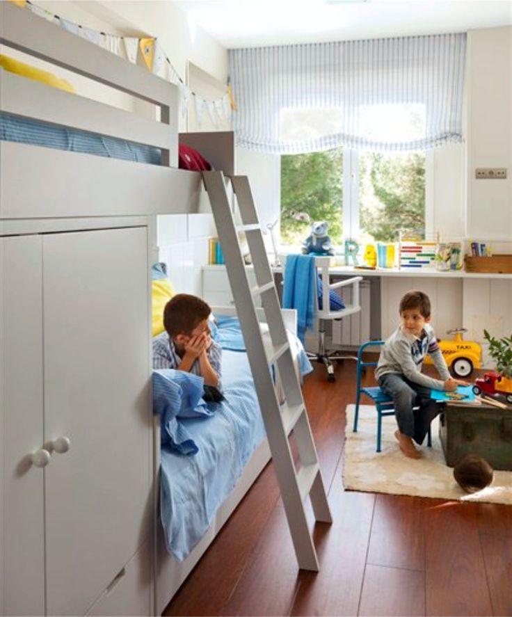 COLORES Y ALGO MÁS… PARA DORMITORIOS INFANTILES  Un espacio infantil debe permitir que el niño sienta que está hecho a su medida. La habitación debe de contar con espacios independientes, de esta manera podrá tener un área de descanso, otra de estudio y una de juegos. Se aconseja elegir muebles de colores neutros para que se puedan combinar con otros elementos decorativos cuando el niño crezca.