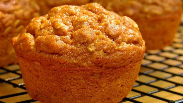 This is a recipe I adapted from an old favorite, applesauce muffins. They are high in fibre and low in fat.