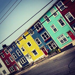 Jellybean Row Houses, St. John's, Newfoundland