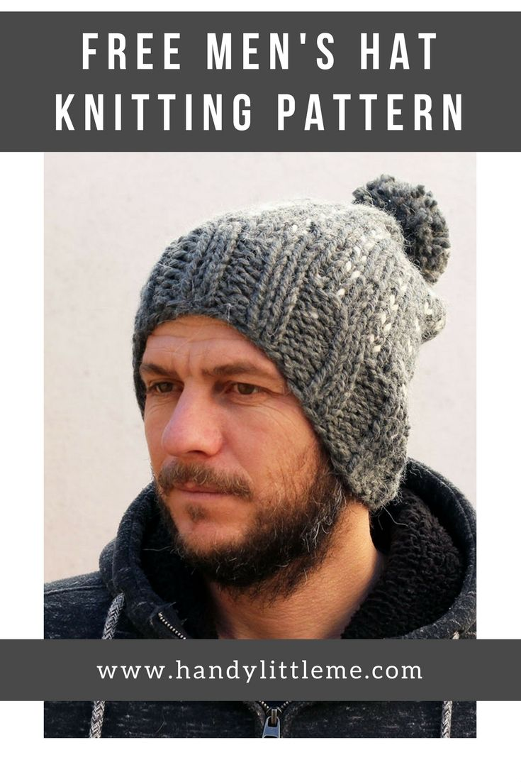 517 best free knitting patterns images on pinterest knit free chunky hat knitting pattern make a super warm beanie for your man bankloansurffo Images