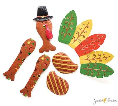Tin+Turkey+Wreath+Kit+-+6+Pieces+Hand-painted+tin+elf ...