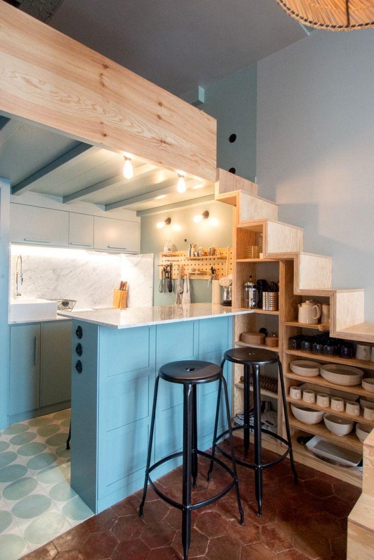 Aménagement Mezzanine Petit Espace studio kitchens don't have to feel small | cuisine studio