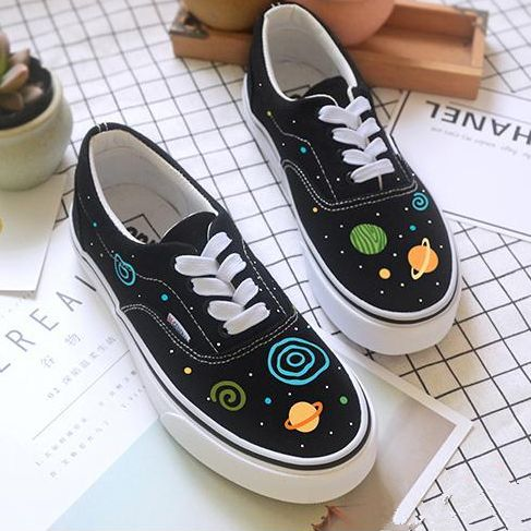 Harajuku fashion galaxy hand-painted shoes SE10856