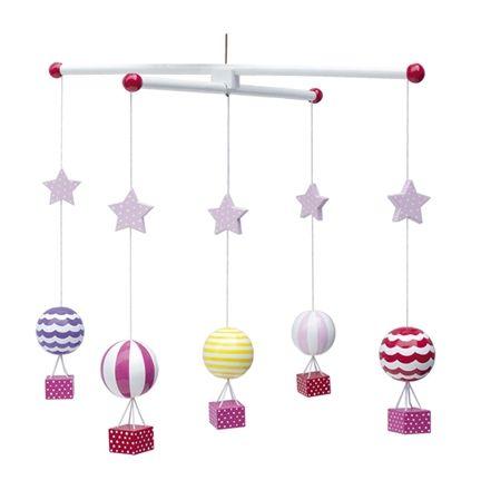Jabadabado Trämobil Luftballong Rosa