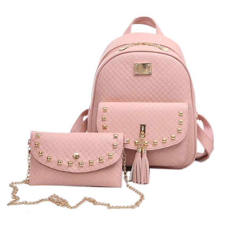 2017 Spring New Preppy Style Backpack Women Travel School Bag Feminina Bolsas Rucksack Casual PU Leather Backpacks Clutch 583