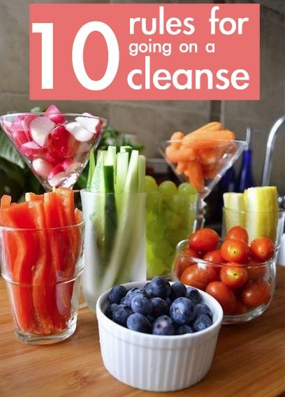 10 rules for doing a cleanse, actually realistic and healthy! Not some crash diet, just helpful hints to keep your body healthy during a cleanse!