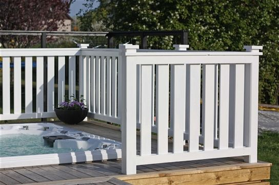 Snyggt staket och snygga stolphattar