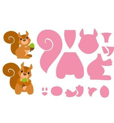 Snijmal Marianne Design Eline`s Squirrel.