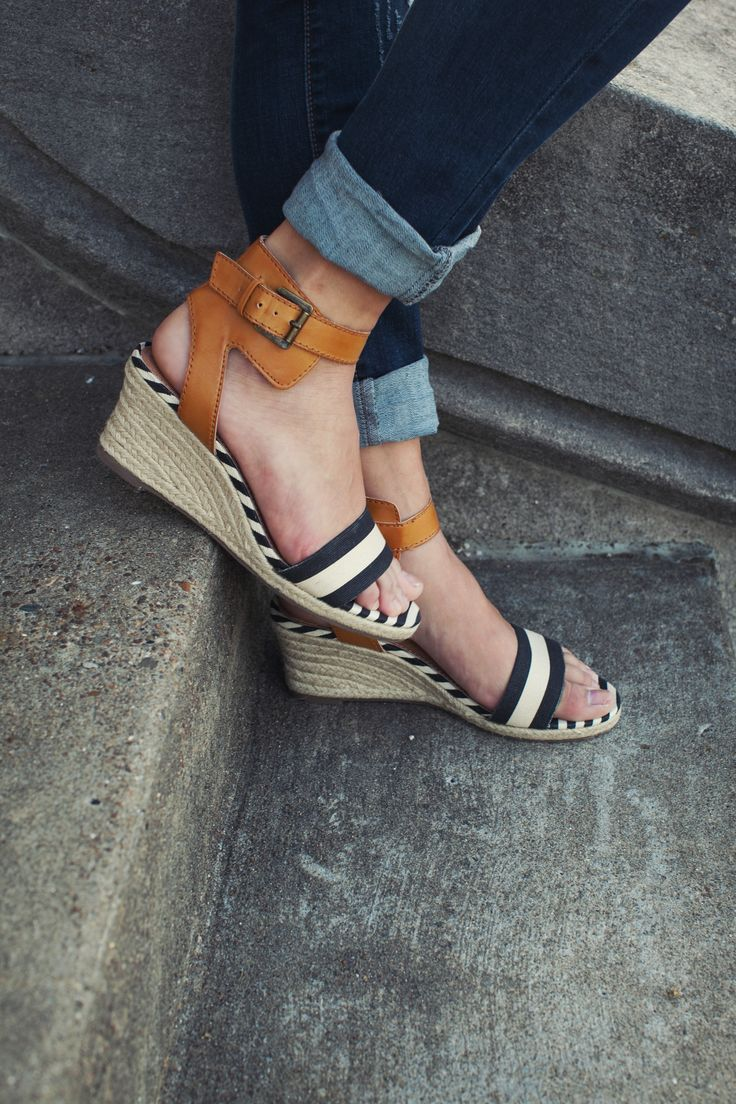 Oh So Nautical Espadrille Wedge