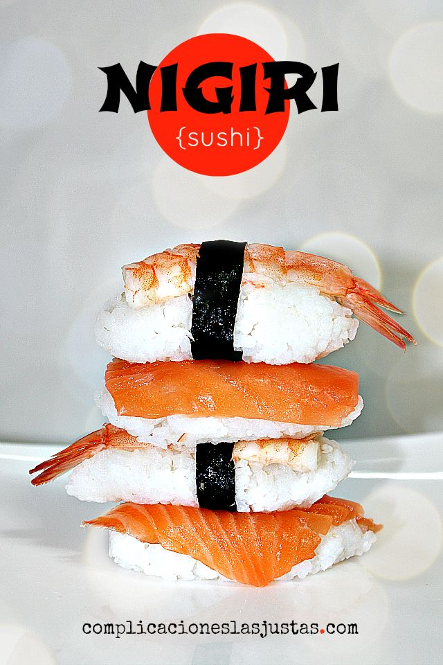NIGIRI SUSHI #CocinaJaponesa
