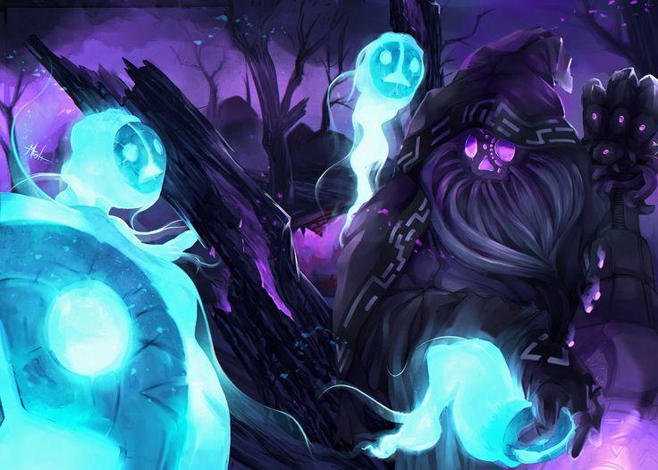 Reaper Bard by DarkMusli.deviantart.com on @DeviantArt  Splash art de una skin para Bardo de League of Legends: Bardo Segador de Almas