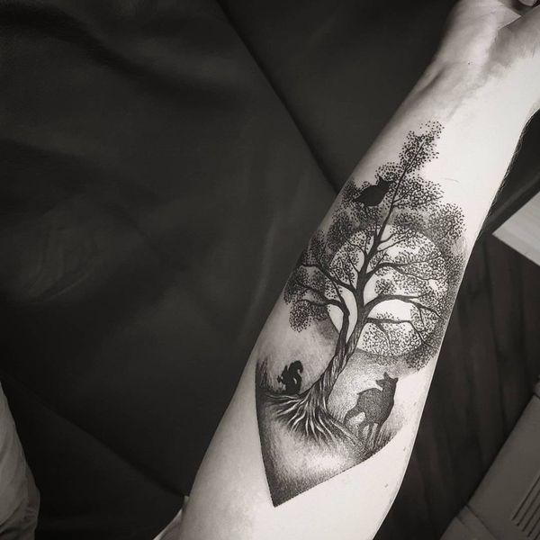 Hermosos Disenos De Tatuajes De Arboles Arboles Hermosos Tatuajes Tatuaje De Arbol Para Hombres Tatuaje De Elemento Tatuajes