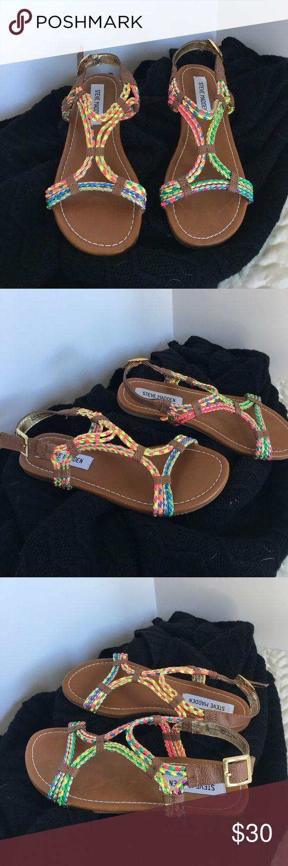 Steve Madden Multi Color Sandals NWT NWT Steve Madden Multi Color Sandals. Girls size 3.  New in the box. Never worn. Steve Madden Shoes Sandals & Flip Flops