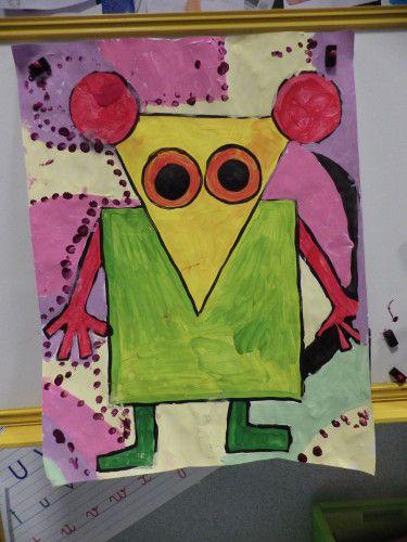 peinture souris en papier
