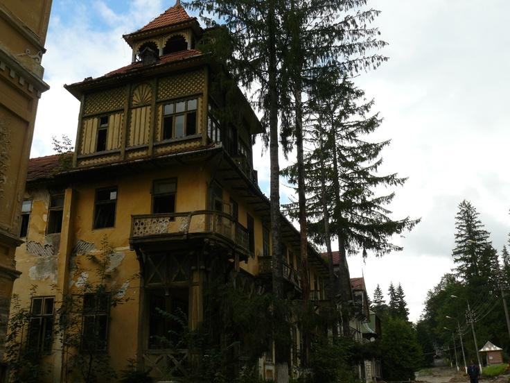 Borsec (Borszék), Romania, city of abandoned bathing villas