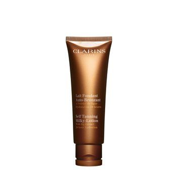 Clarins Self Tanning Milky Lotion Clarins Self Tanning Milky Lotion Do not wait for the beach to get tan! A lightweight self tan which is quickly absorbed, providing a beautiful natural-looking tan. Aloe vera gel and Fig extract softe http://www.MightGet.com/january-2017-12/clarins-self-tanning-milky-lotion.asp