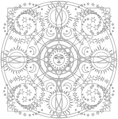 339 best coloriage mandala images on Pinterest Mandala coloring - best of coloring sheets with stars